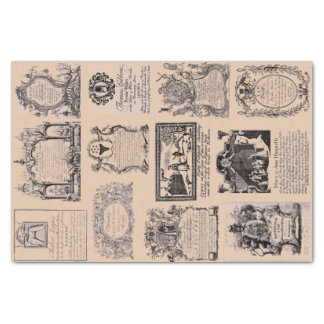 18th Century Bussiness Trade Card Collection Tissue Paper