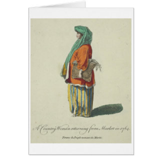 18th-Century Colorful Clothes Vintage Card
