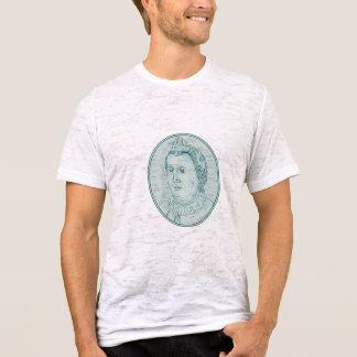 18th Century European Empress Bust Oval Drawing T-Shirt