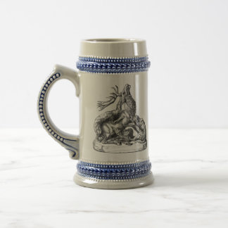 18th Century Hunting Scene. Customize Initials. Beer Stein