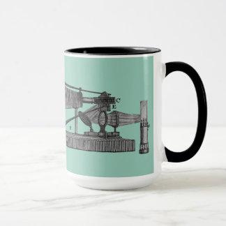 18th Century Microscope Antique Science INSTRUMENT Mug
