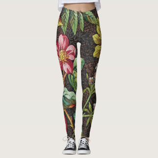 18th Century textile design of flowers. Leggings