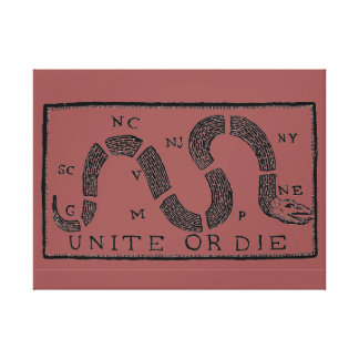 18th Century Unit or Die Canvas Wall Print