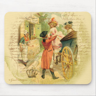 18th Century Wedding Couple in Carriage Mouse Pad