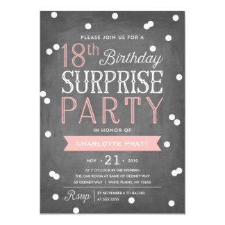 18th Confetti Surprise Party Invitation   Birthday