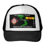 18th Engineer Brigade Vietnam Veteran Ball Caps