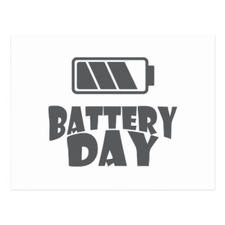 18th February - Battery Day - Appreciation Day Postcard