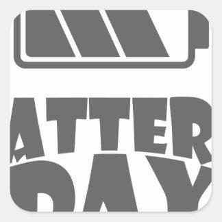 18th February - Battery Day - Appreciation Day Square Sticker