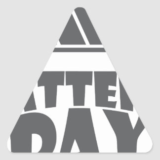 18th February - Battery Day - Appreciation Day Triangle Sticker