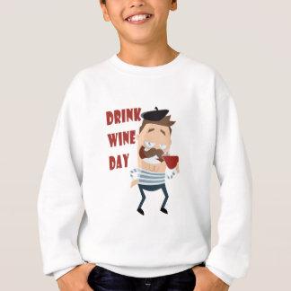 18th February - Drink Wine Day - Appreciation Day Sweatshirt