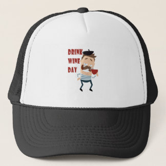 18th February - Drink Wine Day - Appreciation Day Trucker Hat