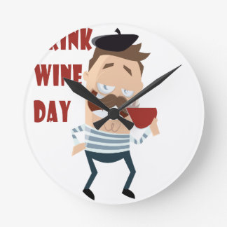 18th February - Drink Wine Day - Appreciation Day Wallclock