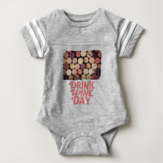 18th February - Drink Wine Day Baby Bodysuit