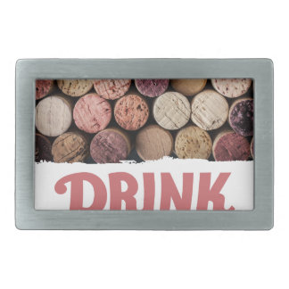 18th February - Drink Wine Day Belt Buckle