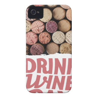 18th February - Drink Wine Day Case-Mate iPhone 4 Case