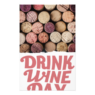 18th February - Drink Wine Day Customized Stationery