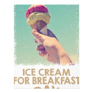 18th February - Eat Ice Cream For Breakfast Day Custom Letterhead