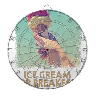 18th February - Eat Ice Cream For Breakfast Day Dartboard