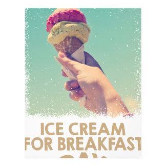 18th February - Eat Ice Cream For Breakfast Day Letterhead