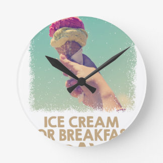 18th February - Eat Ice Cream For Breakfast Day Round Clock