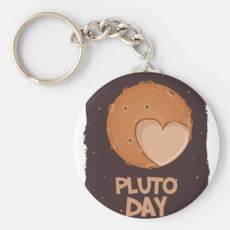 18th February - Pluto Day - Appreciation Day Keychain
