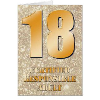 18th Happy Birthday Card