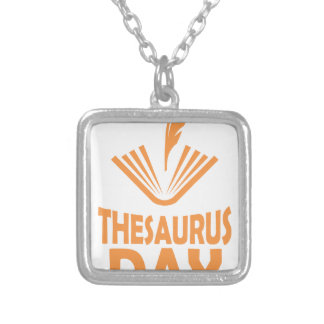 18th January - Thesaurus Day Silver Plated Necklace