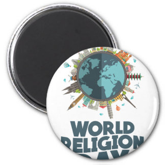 18th January - World Religion Day Magnet