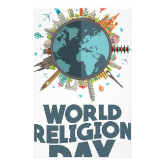 18th January - World Religion Day Stationery Design