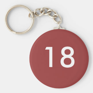 18th keychain
