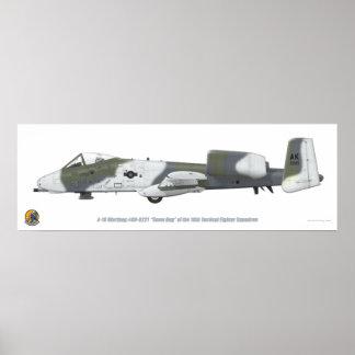 "18th TFS A-10 ""Snow Hog"" Poster"
