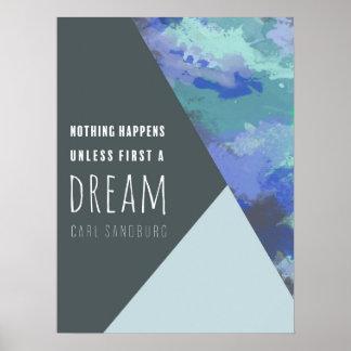 "18x24"" Geometric Dream | Inspirational Poster Art"