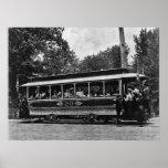 1900 Columbia Railway Trolley Poster