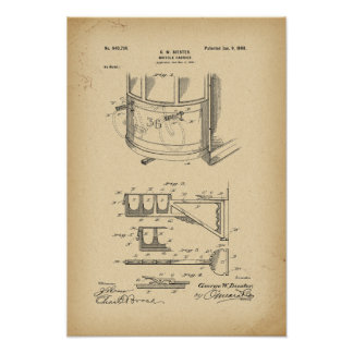 1900 Patent  Bicycle carrier Poster