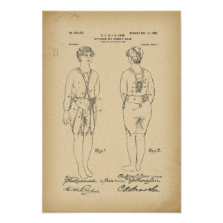 1900 Patent Corset Poster