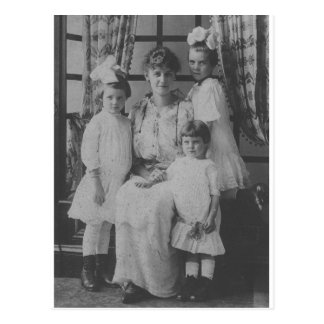 1900 s Mother and Three Daughters Postcard