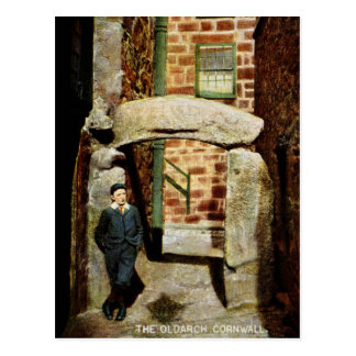 1900 St. Ives Cornwall, The Old Arch, local boy Postcard