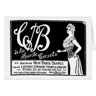 1900 vintage corset advertisement card