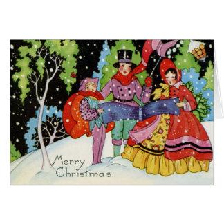 1900s Art Deco Christmas Card
