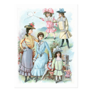 1900s Fashion Hats Postcard