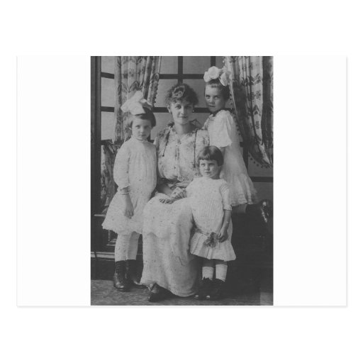 1900's Mother and Three Daughters Postcard