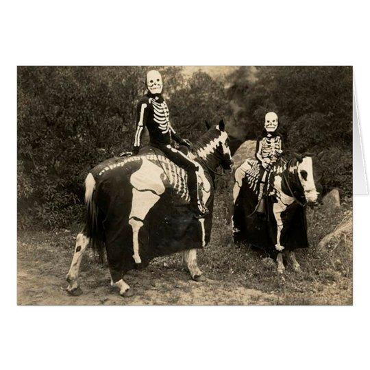 1900's Skeleton Horsemen Card