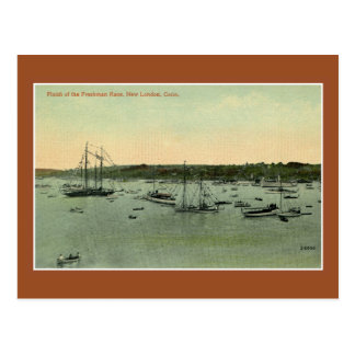 1900s vintage Finish Frenchman race New London CT Postcard