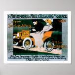 1901 Graz Automobile Vintage Art Print Poster