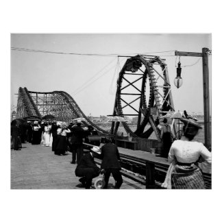 1901 The Loop Roller Coaster Print