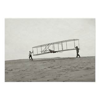 1902 FIRST FLIGHT GLIDER GLASS NEGATIVE [EDITED] POSTER