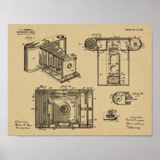 1902 Folding Camera Patent Art Drawing Print