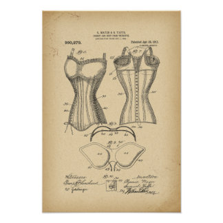 1902 Patent Corset and bust form therefor Poster