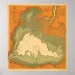 1903 Historic Lake Saint Clair, MI Nautical Chart