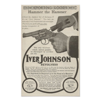 1904 Advertisement for Iver Johnson revolver Poster